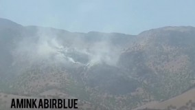 آتش سوزی در منطقه حافظت شده سفیدکوه