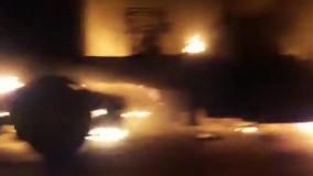 انهدام کاروان نظامی آمریکا در عراق
