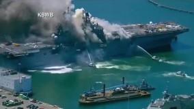 انفجار ناوشکن آمریکایی در بندر سن دیگو