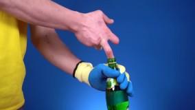 شکستن بطری با یک انگشت