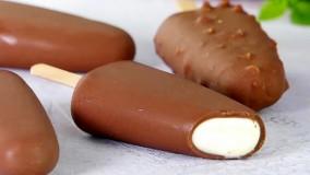 طرزتهیه  بستنی چوبی شکلاتی در خانه