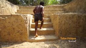 ساخت خانه رویایی جنگلی  :  ساخت استخر آرامش