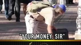 دوربین مخفی مرد کور ویک میلیون دلار پول