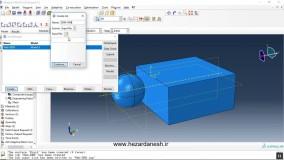 شبیه سازی برخورد جسم فولادی کروی به توده خاک مدل شده با استفاده از روش DEM در نرم افزار ABAQUS
