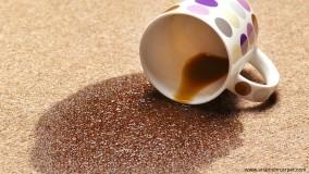 پاک کردن لکه چای از روی فرش ماشینی