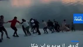 ویدئویی دیدنی از تلاش برای نجات جان یک انسان