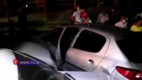 تصادف زنجیرهای ۱۴ خودرو در بزرگراه امام علی (ع)