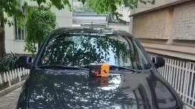 ضربه گیر برسام یدک بر روی خودرو تیبا