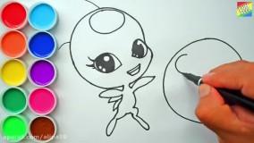 نحوه نقاشی و رنگ آمیزی تیکی لیدی باگ