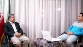 صحبت های احمدی نژاد درباره معین