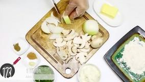 طرز تهیه شینیسل مرغ با سس قارچ