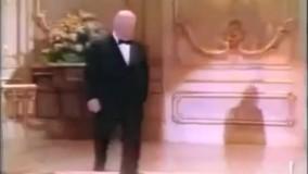 لحظهی دریافت اسکار افتخاری «آلفرد هیچکاک»