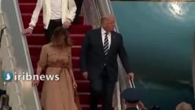 همسر ترامپ بار دیگر دست وی را پس زد