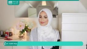 آموزش بستن شال طرحدار دخترانه