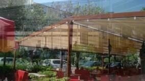 جدیدترین سایبان متحرک روفگاردن کافه-بهترین سقف های برقی فودکورت رستوران عربی