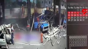 فیلم لحظه انفجار جایگاه گاز در نکا ؛  راننده نیسان کشته شد