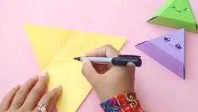 کاردستی کاغذی برای کودکان ؛ جای شکلات