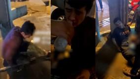 کتک خوردن پرسنل شهرداری توسط اوباش