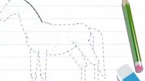 نقاشی کشیدن اسب
