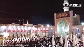 مراسم شام غریبان حسینی در حرم امام رضا (ع)