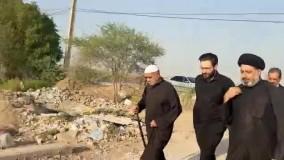 حضور نماینده رهبر انقلاب در روستای ابوالفضل