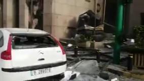 خیابانی در بیروت پس از انفجار