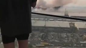 نمایی دیگر از انفجار در لبنان