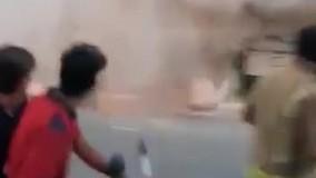ریزش ساختمان دو طبقه در تهران