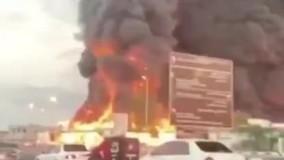 آتش سوزی مهیب در بازار شهر «عجمان»