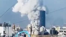 برخورد شی ناشناس قبل از انفجار ابرقارچی بیروت