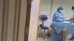 لحظه وحشتناک انفجار بیروت در اتاق زایمان بیمارستان
