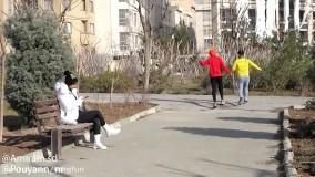 دوربین مخفی  قهرمانان بدنسازی در پارک