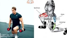 تمرینات بدنسازی - آموزش حرکات کاربردی با دمبل