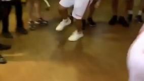 رقص شمالی بازیکنان پرسپولیس در رختکن