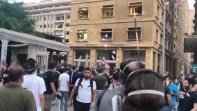 معترضین ساختمان وزارت اقتصاد لبنان در بيروت را تصرف کردند