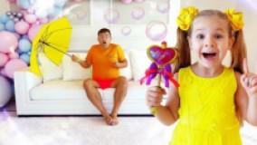 دیانا و روما : برس مو جادویی : حباب بازی