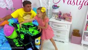 ناستیا و پدر : اتاق جدید برای پدر : فرار از عنکبوت