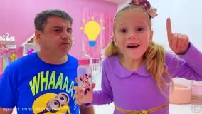 ناستیا و بابایی : هدیه لک لک برای ناستیا : ناستیا و استیسی