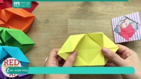 آموزش ساخت اوریگامی آلبوم عکس با کاغذ رنگی