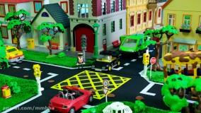 ماشین بازی کودکانه : اتوبوس مدرسه به کارواش می رود