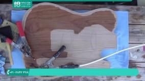 سوخته نگاری روی چوب برای تزئین گیتار