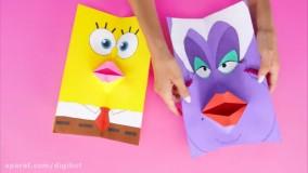 کاردستی های جالب و سرگرم کننده برای کودکان از نقاشی و کاغذ