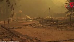آتش سوزی مهیب 4 میلیون نفر را فراری داد  ؛  آمریکا در آتش