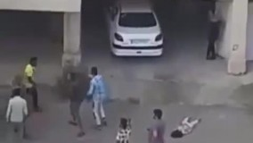 دعوای خانواده ها بعد از تصادف کودک با ماشین