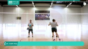 آموزش دفاع(BLOCK) در والیبال به صورت تک نفره