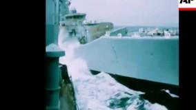 برخورد وحشتناک کشتی های بزرگ با یکدیگر