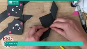 روش ساخت اوریگامی خفاش به کودکان