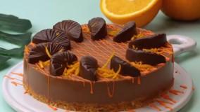 تزیین کیک آسان و بی نقص : تزیین کیک شکلاتی جذاب