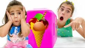 ناستیا و میا و استیسی ؛  بستنی سازی ناستیا