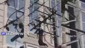 خشک شدن دزد کابل برق در تهران